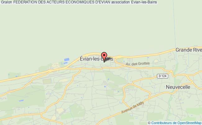 plan association Federation Des Acteurs Economiques D'evian