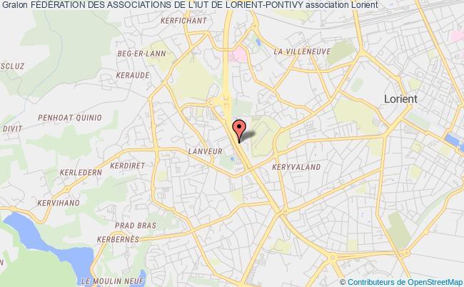 plan association FÉdÉration Des Associations De L'iut De Lorient-pontivy