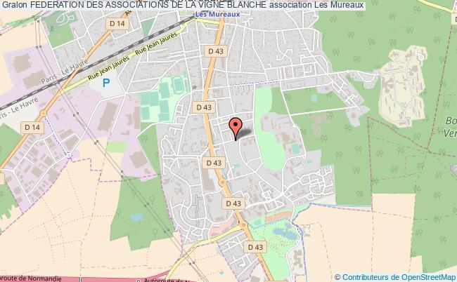 plan association Federation Des Associations De La Vigne Blanche Les   Mureaux