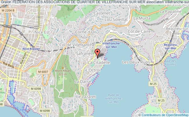 plan association Federation Des Associations De Quartier De Villefranche Sur Mer Villefranche-sur-Mer
