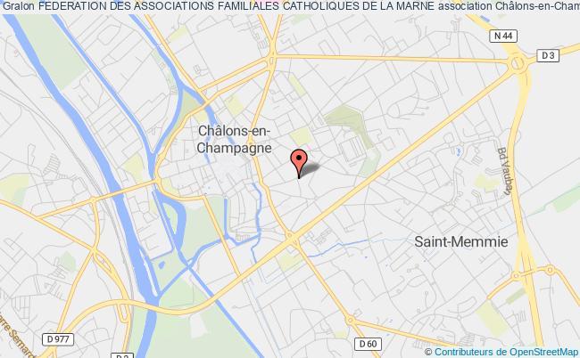 plan association Federation Des Associations Familiales Catholiques De La Marne