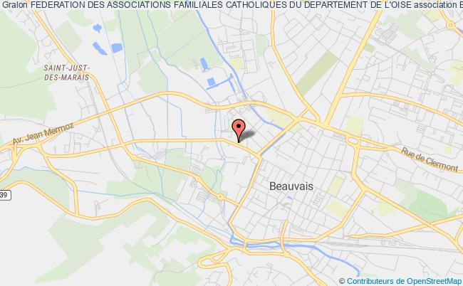 plan association Federation Des Associations Familiales Catholiques Du Departement De L'oise Beauvais