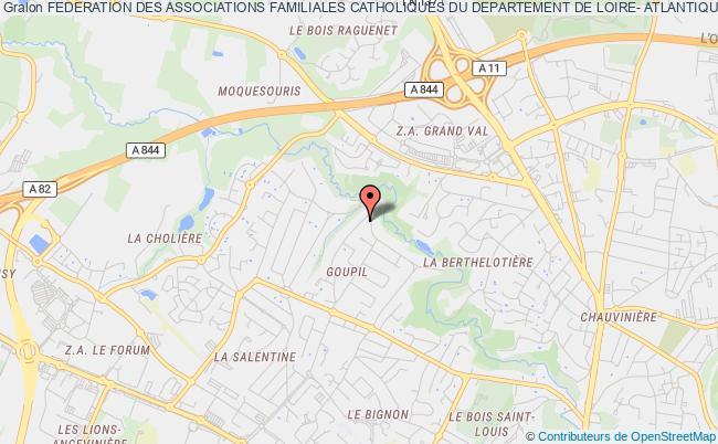 plan association Federation Des Associations Familiales Catholiques Du Departement De Loire- Atlantique