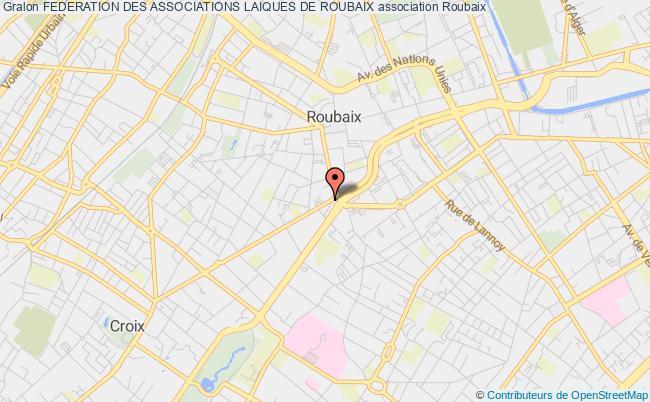 plan association Federation Des Associations Laiques De Roubaix Roubaix
