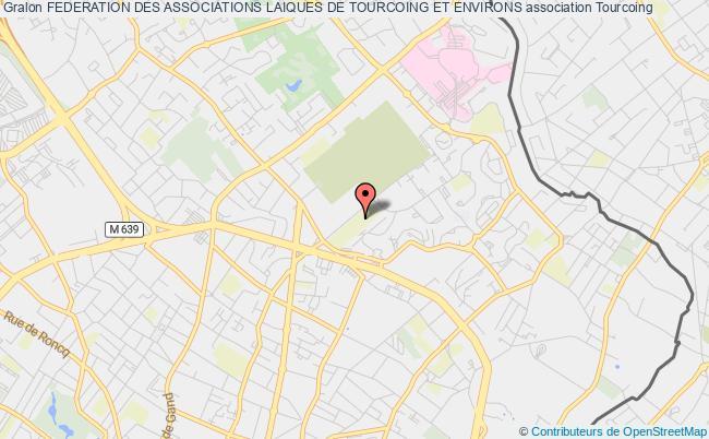 plan association Federation Des Associations Laiques De Tourcoing Et Environs Tourcoing