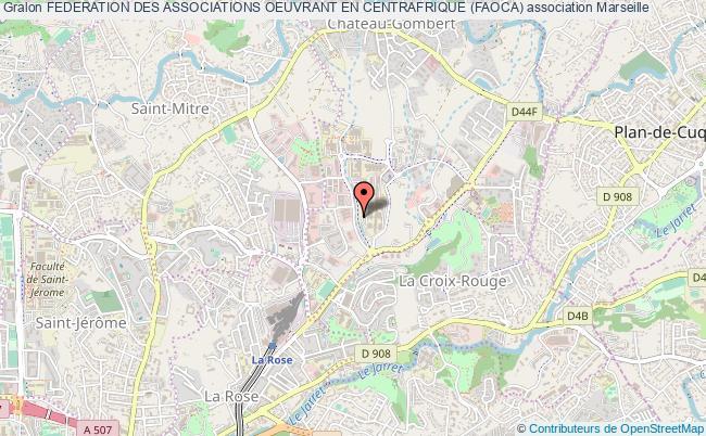 plan association Federation Des Associations Oeuvrant En Centrafrique (faoca) Marseille