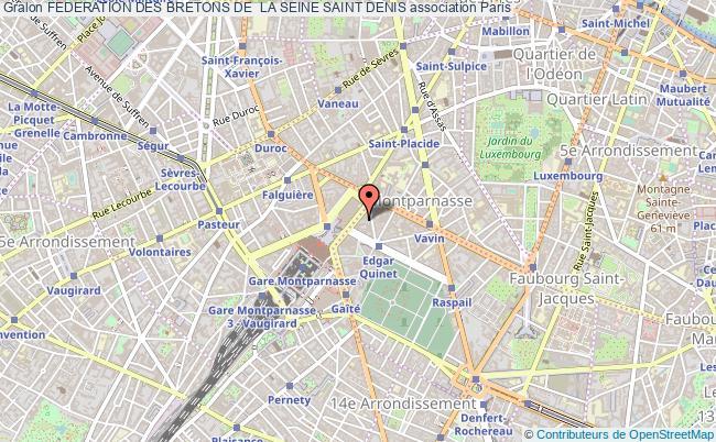 plan association Federation Des Bretons De  La Seine Saint Denis