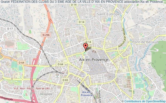 plan association Federation Des Clubs Du 3 Eme Age De La Ville D' Aix En Provence