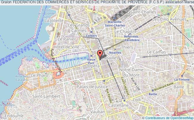 plan association Federation Des Commerces Et Services De Proximite De Provence (f.c.s.p.)