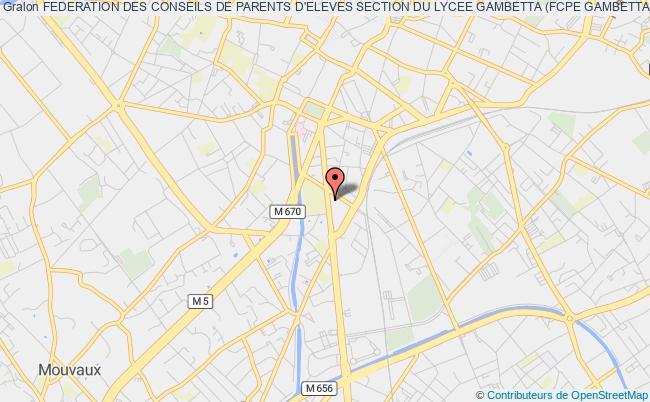 plan association Federation Des Conseils De Parents D'eleves Section Du Lycee Gambetta (fcpe Gambetta) Tourcoing