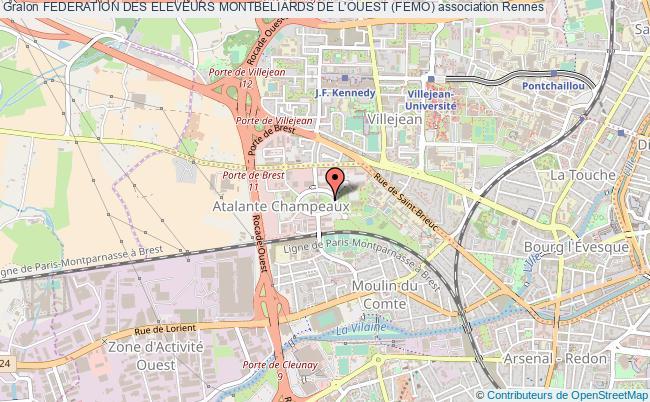 plan association Federation Des Eleveurs Montbeliards De L'ouest (femo)