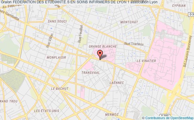 plan association FÉdÉration Des Étudiants En Soins Infirmiers De Lyon 1 (fesil)