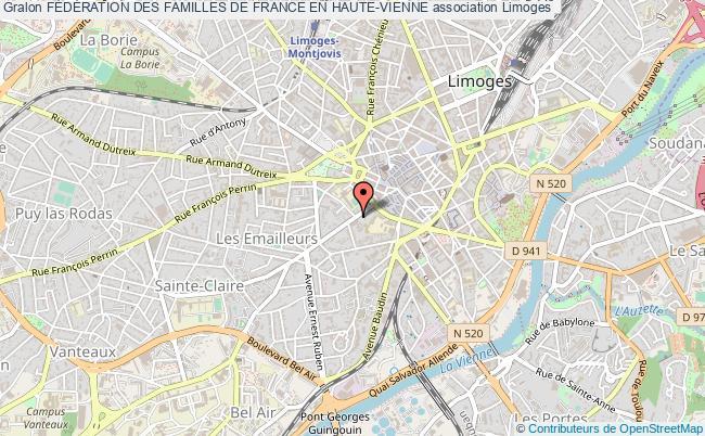 plan association FÉdÉration Des Familles De France En Haute-vienne