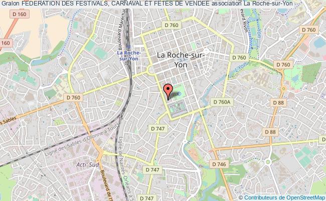 plan association Federation Des Festivals, Carnaval Et Fetes De Vendee La Roche-sur-Yon