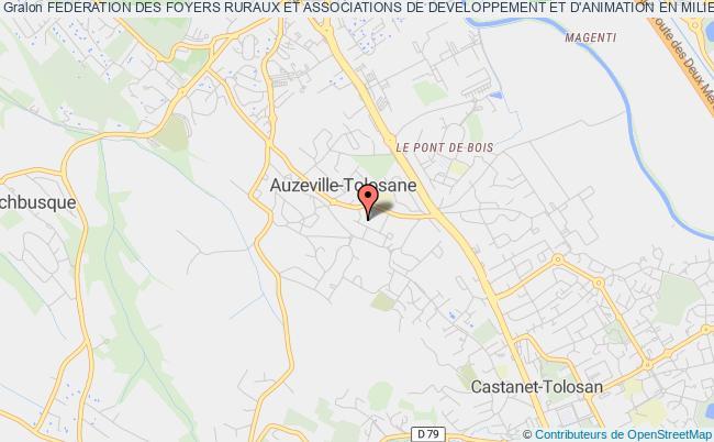 plan association Federation Des Foyers Ruraux Et Associations De Developpement Et D'animation En Milieu Rural (ffr 31-65) Auzeville-Tolosane