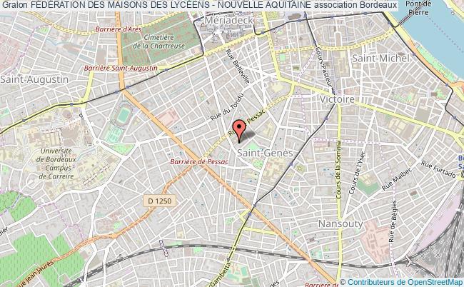 plan association FÉdÉration Des Maisons Des LycÉens - Nouvelle Aquitaine