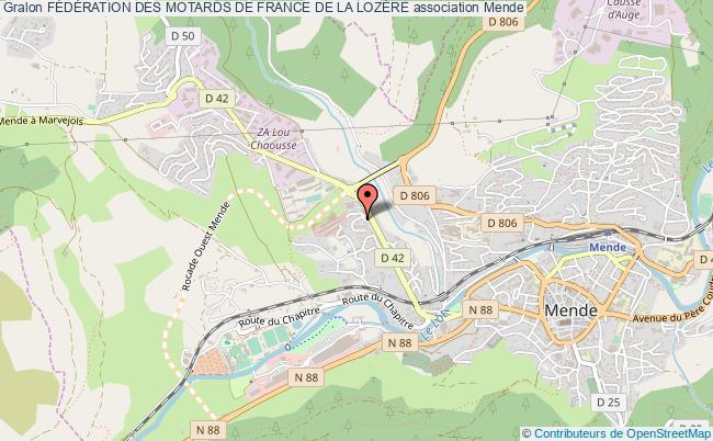 plan association FÉdÉration Des Motards De France De La LozÈre