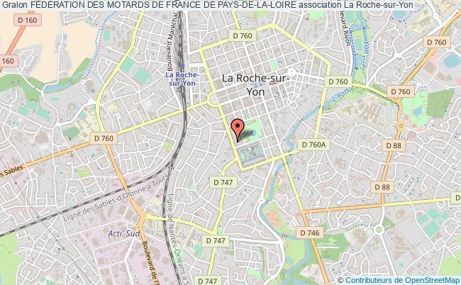 plan association FÉdÉration Des Motards De France De Pays-de-la-loire Roche-sur-Yon
