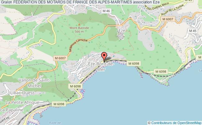 plan association FÉdÉration Des Motards De France Des Alpes-maritimes
