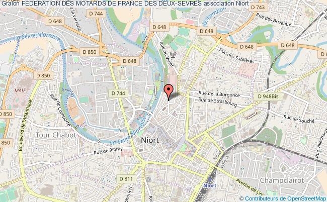 plan association Federation Des Motards De France Des Deux-sevres