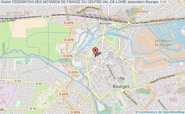 plan association FÉdÉration Des Motards De France Du Centre-val-de-loire Bourges