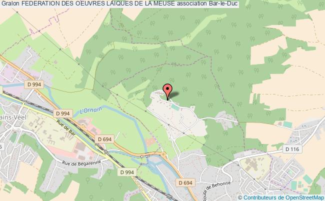 plan association Federation Des Oeuvres Laiques De La Meuse