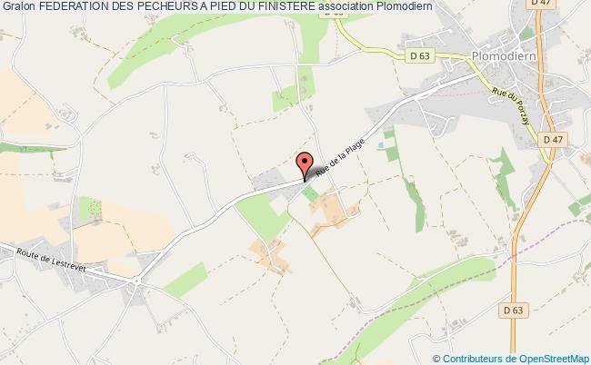 plan association Federation Des Pecheurs A Pied Du Finistere