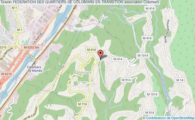 plan association Federation Des Quartiers De Colomars En Transition