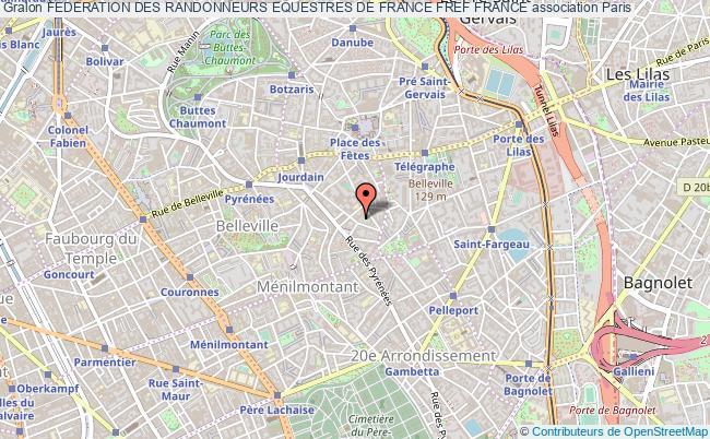 plan association Federation Des Randonneurs Equestres De France Fref France