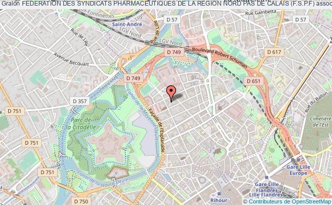 plan association Federation Des Syndicats Pharmaceutiques De La Region Nord Pas De Calais (f.s.p.f)