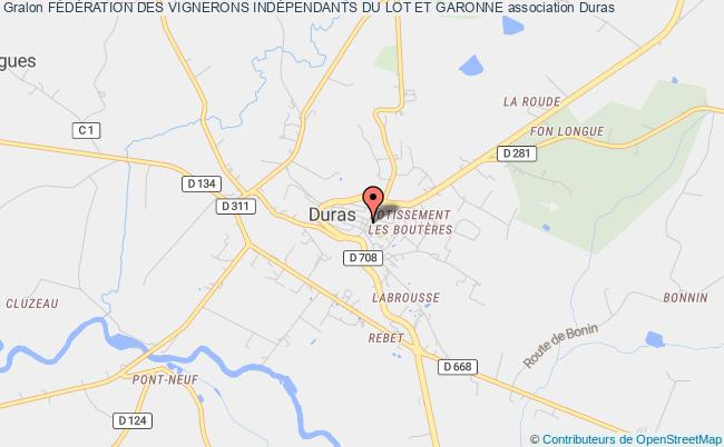 plan association FÉdÉration Des Vignerons IndÉpendants Du Lot Et Garonne Duras