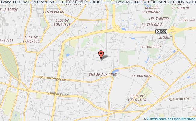 plan association Federation Francaise D'education Physique Et De Gymnastique Volontaire Section Argonne