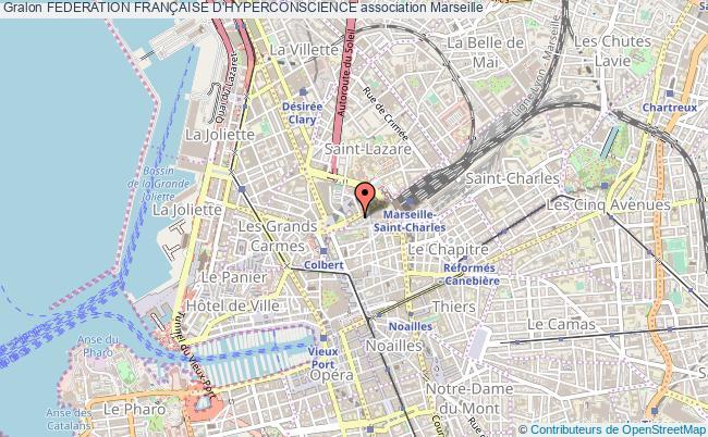 plan association Federation FranÇaise D'hyperconscience Marseille