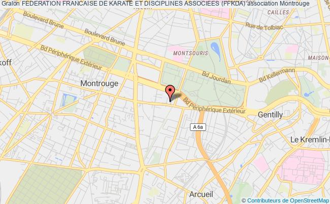 plan association Federation Francaise De Karate Et Disciplines Associees (ffkda) Montrouge