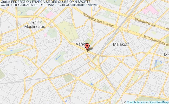 plan association Federation Francaise Des Clubs Omnisports Comite Regional D'ile De France Crifco Malakoff