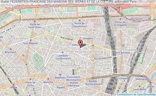 plan association Federation Francaise Des Maisons Des Jeunes Et De La Culture