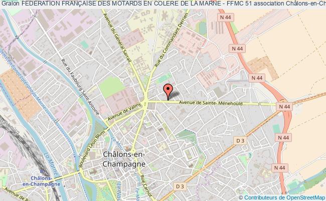 plan association Federation FranÇaise Des Motards En Colere De La Marne - Ffmc 51