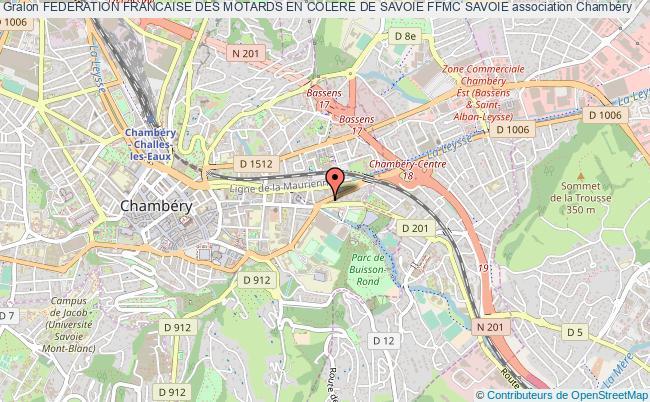 plan association Federation Francaise Des Motards En Colere De Savoie Ffmc Savoie