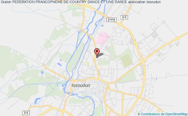 plan association Federation Francophone De Country Dance Et Line Dance Issoudun