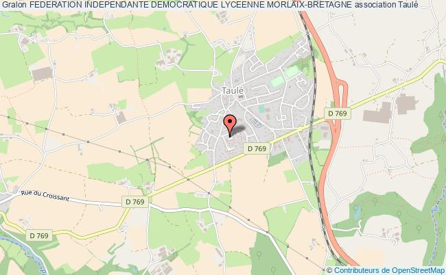 plan association Federation Independante Democratique Lyceenne Morlaix-bretagne Taulé