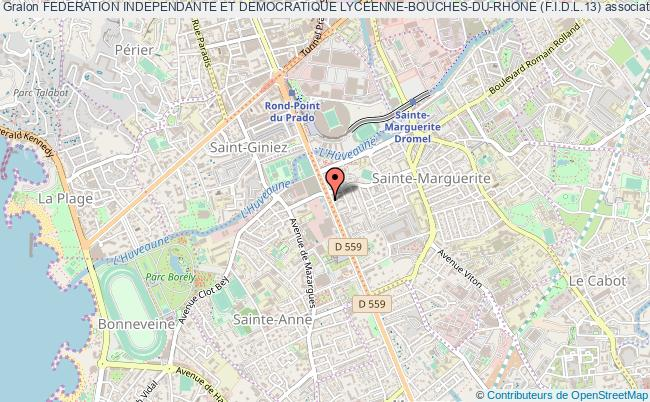 plan association Federation Independante Et Democratique Lyceenne-bouches-du-rhone (f.i.d.l.13) Marseille