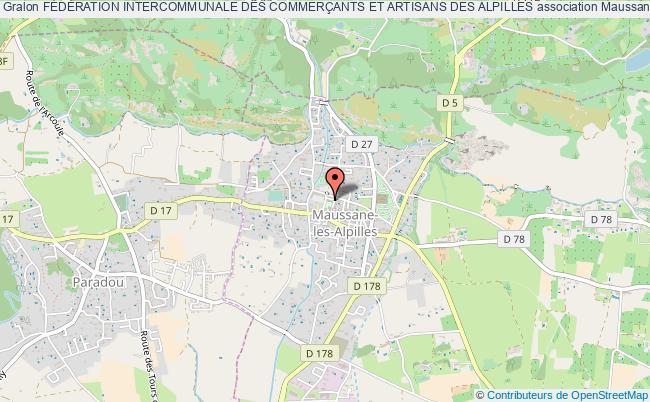 plan association FÉdÉration Intercommunale Des CommerÇants Et Artisans Des Alpilles