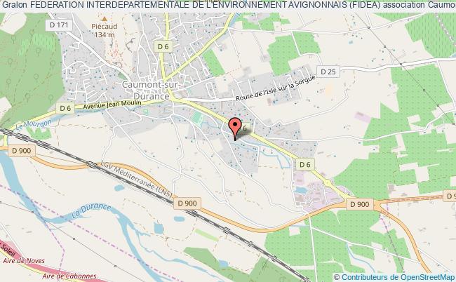 plan association Federation Interdepartementale De L'environnement Avignonnais (fidea)