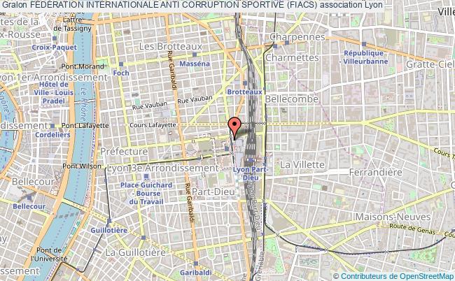 plan association FÉdÉration Internationale Anti Corruption Sportive (fiacs) Lyon