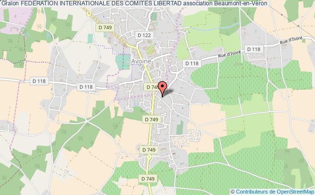 plan association Federation Internationale Des Comites Libertad Beaumont-en-Véron