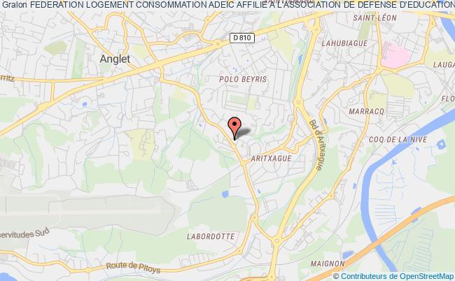 plan association Federation Logement Consommation Adeic Affilie A L'association De Defense D'education Et D'information Du Consommateur