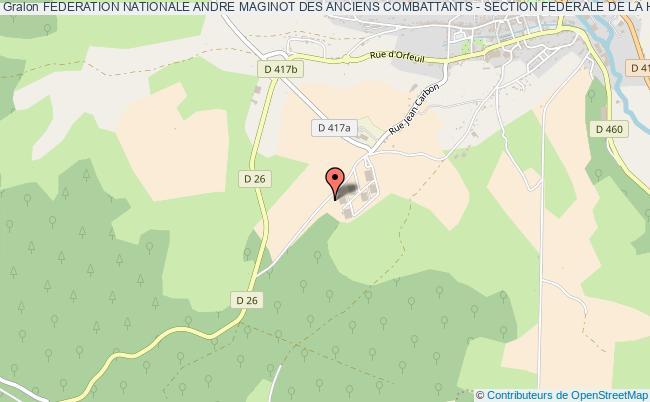 plan association Federation Nationale Andre Maginot Des Anciens Combattants - Section Federale De La Haute-marne