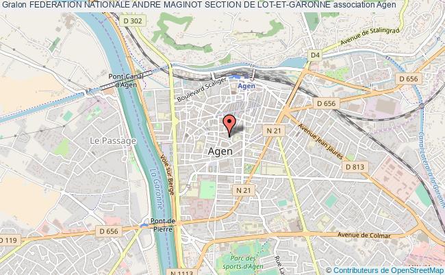 plan association Federation Nationale Andre Maginot Section De Lot-et-garonne
