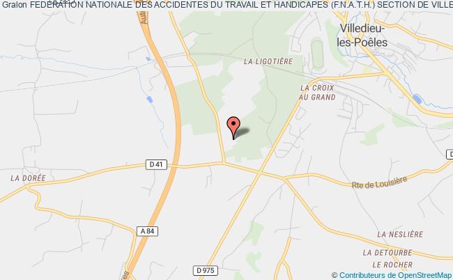 plan association Federation Nationale Des Accidentes Du Travail Et Handicapes (f.n.a.t.h.) Section De Villedieu Les Poeles Villedieu-les-Poêles