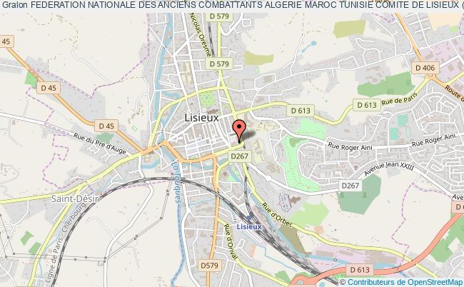 plan association Federation Nationale Des Anciens Combattants Algerie Maroc Tunisie Comite De Lisieux (fnaca)